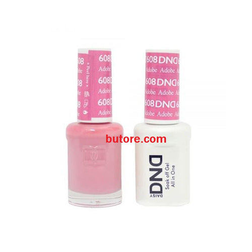 DND Daisy LED/UV Soak Off Gel-Polish (608-adobe) Duo 0.5oz