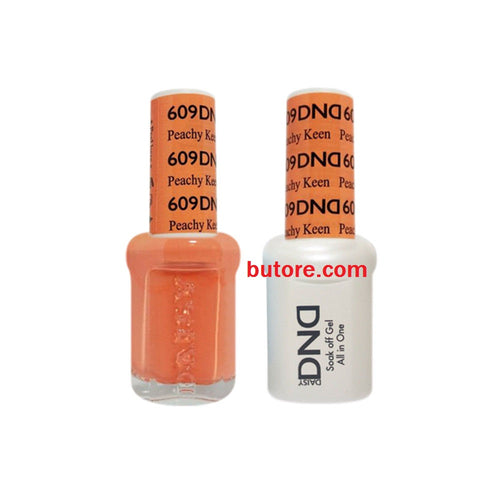 DND Daisy LED/UV Soak Off Gel-Polish (609-peachy keen) Duo 0.5oz