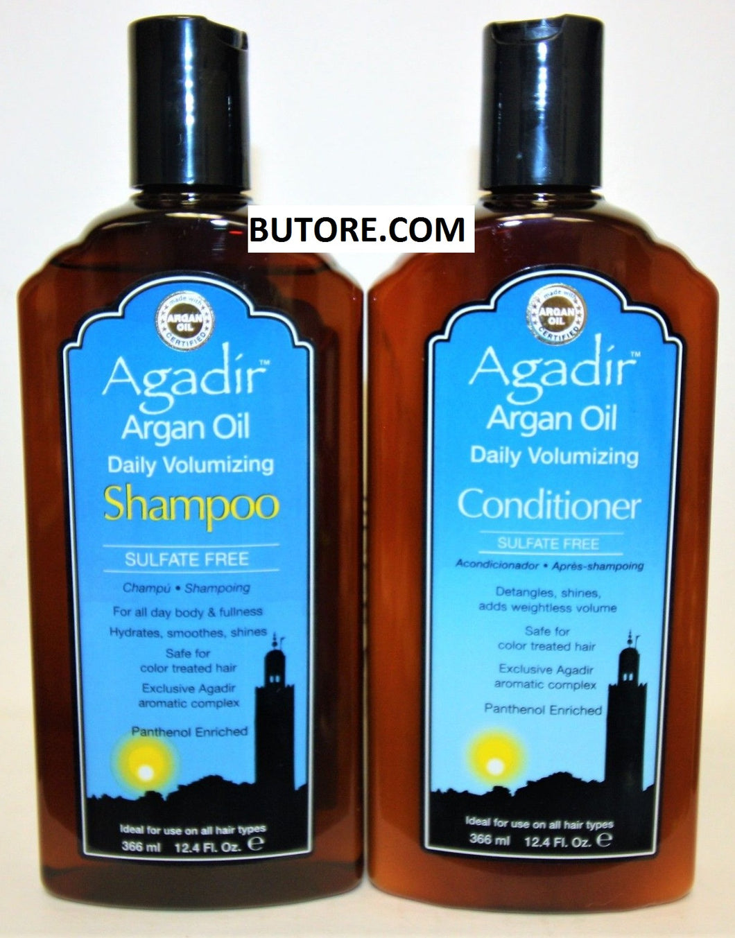 Argan Oil Daily Volumizing Shampoo and Conditioner 12.4 oz (Duo Pack)