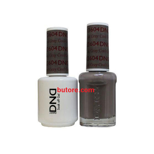 DND Daisy LED/UV Soak Off Gel-Polish (604-cool gray) Duo 0.5oz