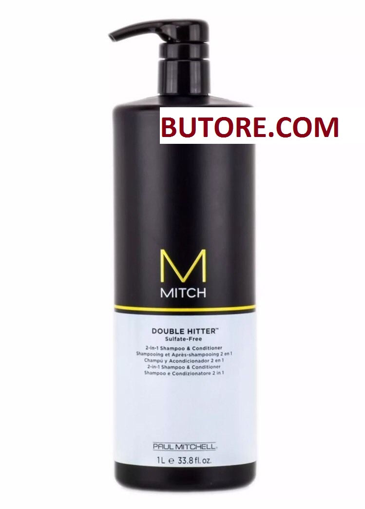 Paul Mitchell Mitch Double Hitter 2 In 1 Shampoo and Conditioner 33.8 oz 1 Liter