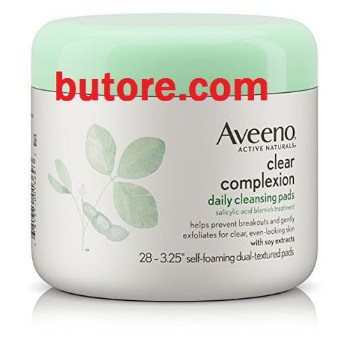 Aveeno Clear Complexion Daily Cleansing Pads, 28 Ct