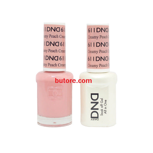 DND Daisy LED/UV Soak Off Gel-Polish (611-creamy peach) Duo 0.5oz