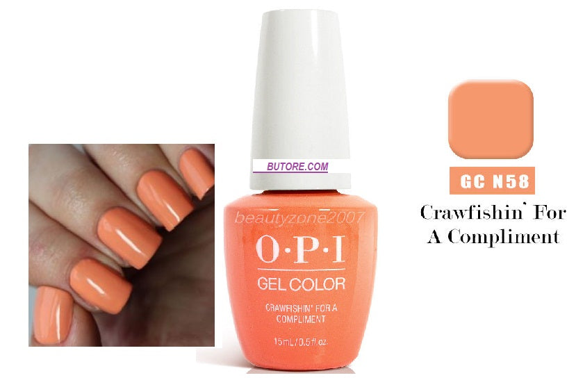 opi crawfishin for a compliment gel