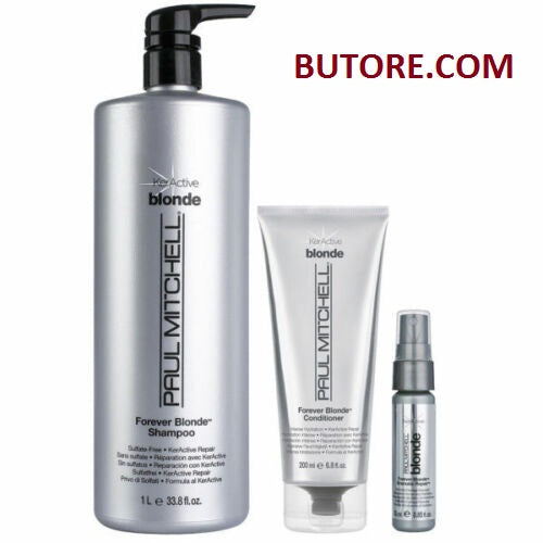 Paul Mitchell Forever Blonde Shampoo 33.8oz Conditioner & Dramatic Repair