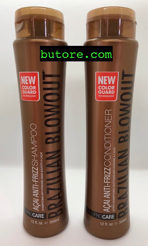 Brazilian Blowout Anti-frizz Acai Shampoo & Conditioner 12oz