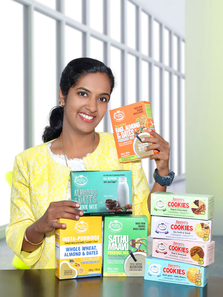 Yourstory covers the journey of Shalini Santhosh Kumar, Founder of Early Foods