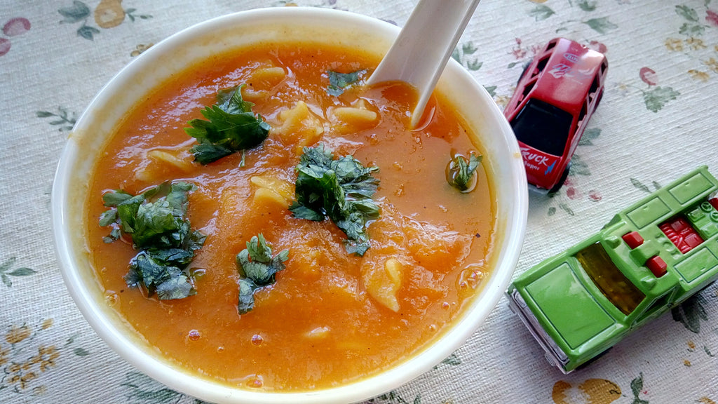 Carrot Pasta Soup for Babies