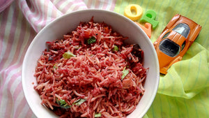 Beetroot Rice - Iron rich Lunch Box Idea!