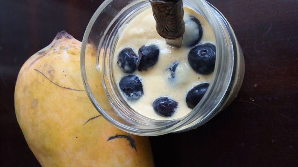 Sugar Free Mango Yogurt Smoothie
