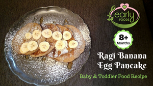 Ragi Banana Egg Pancakes - 4 Ingredients, 5 Mins to Make!