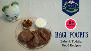 Ragi Poori's - A healthy Sunday Recipe!