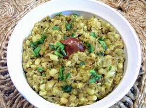 Sprouted Green Moong Dal Khichdi