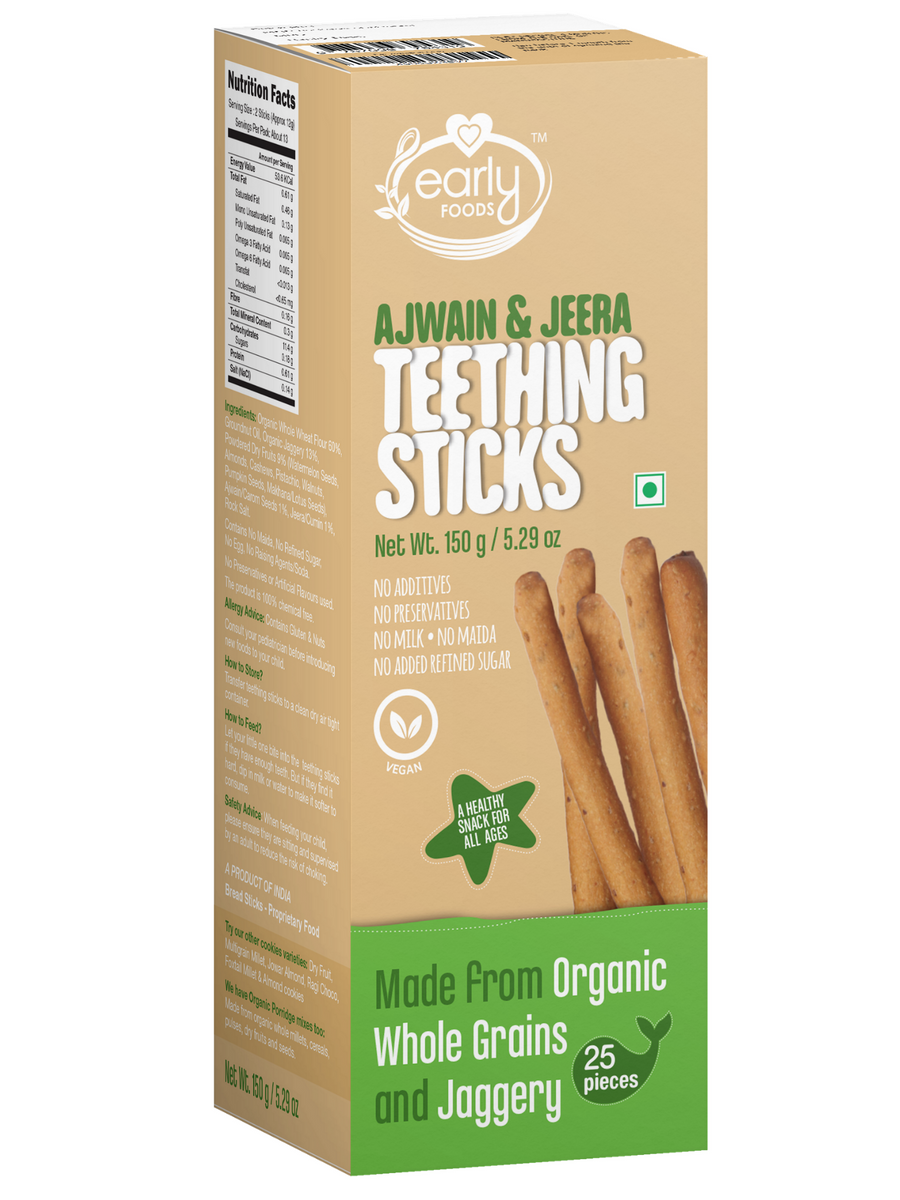 Pack of 3 - Whole Wheat, Ragi & Millets Teething Sticks 150g X 3