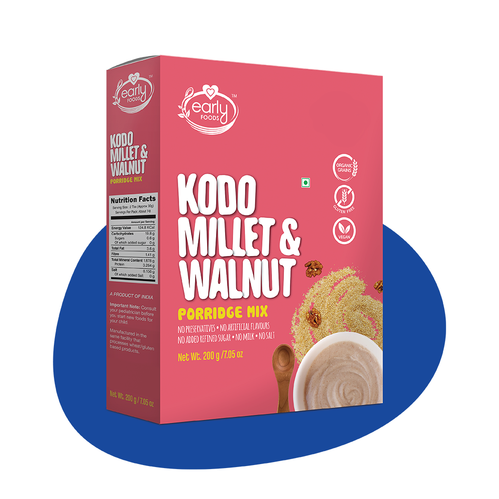 Kodo Millet & Walnut Porridge Mix, 200g