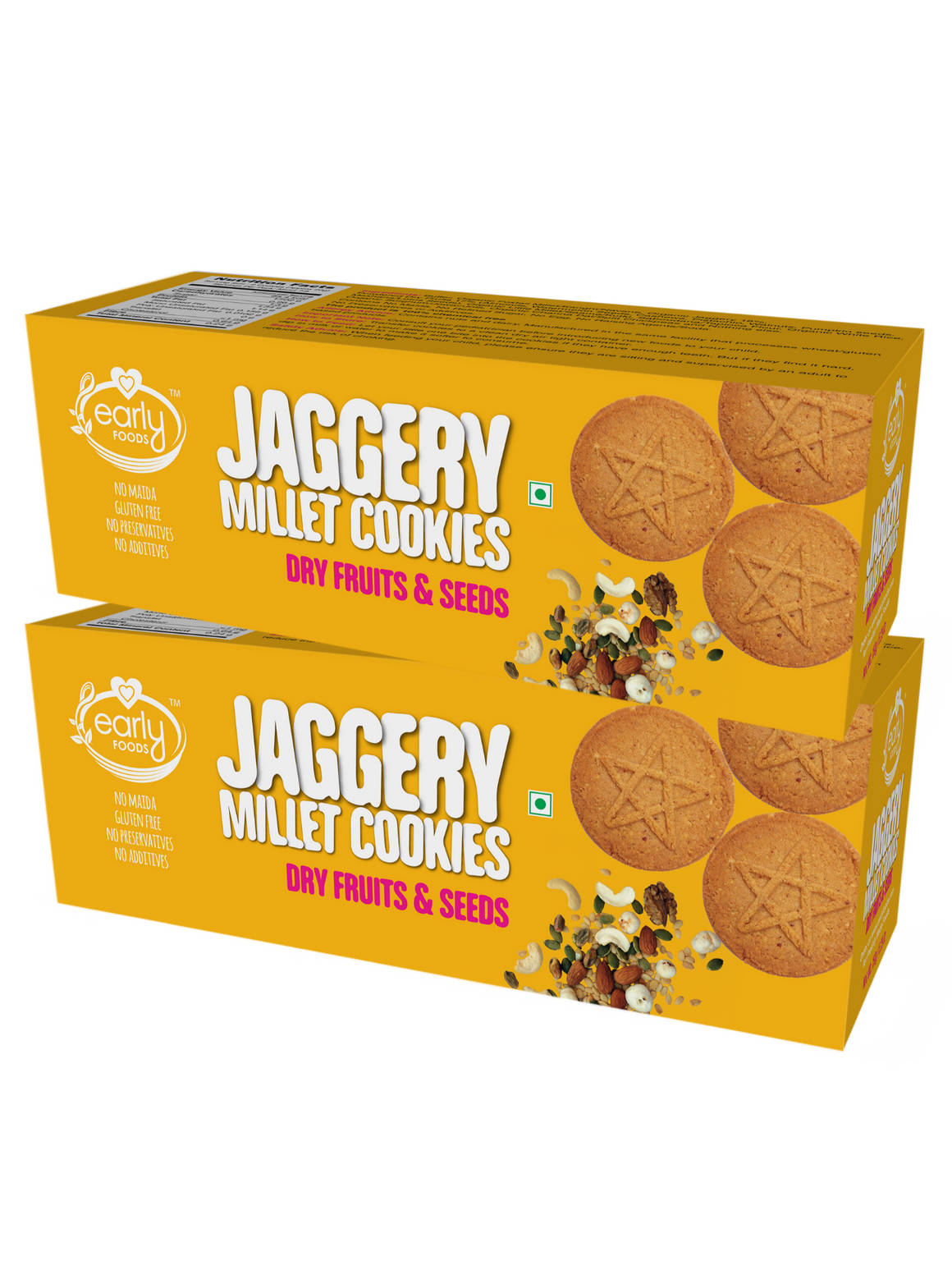 Pack of 2 - Dry Fruit Jaggery Cookies, 150gms x 2
