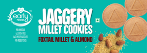 Pack of 2 - Foxtail Millet & Almond Jaggery Cookies 150g X 2