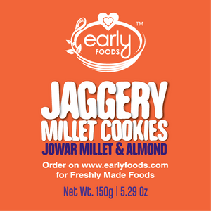 Pack of 2 - Jowar Almond Jaggery Cookies - 150g
