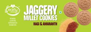 Pack of 2 - Organic Ragi & Amaranth Jaggery Cookies 150g X 2