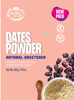 Combo Pack of 3 - Dry Dates Powder - Natural Sweetener (3 Packs - 200g each)
