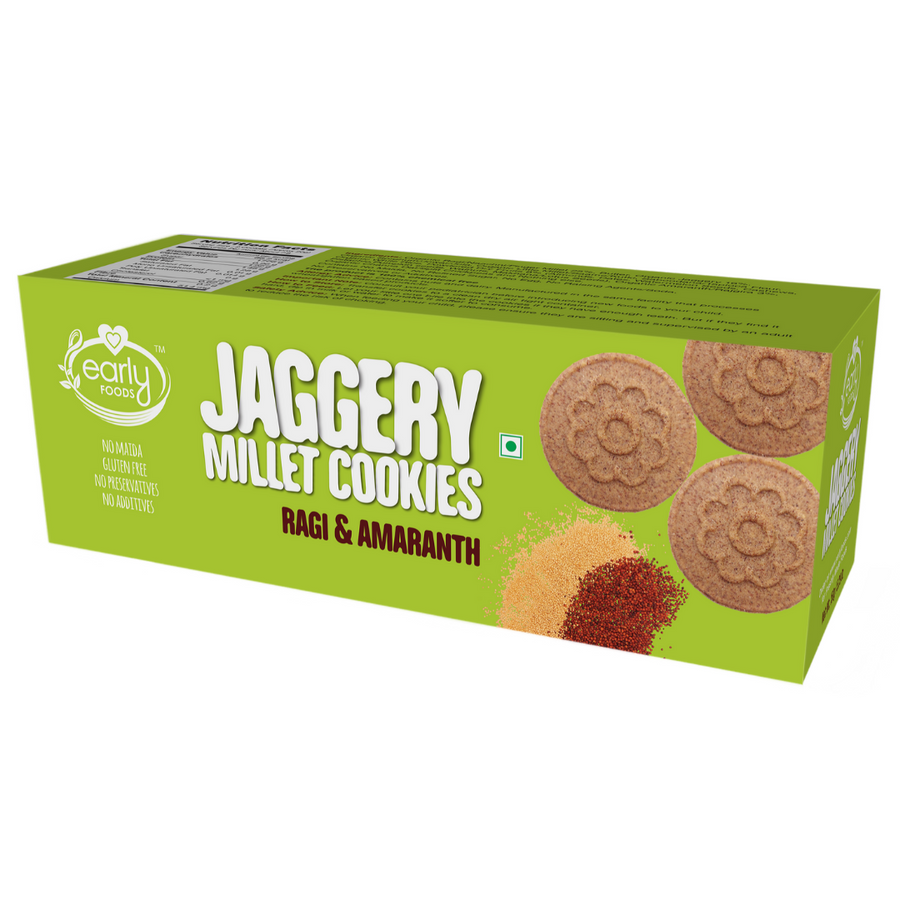 Pack of 6 - Ragi & Amaranth Jaggery Cookies, 150gms  x 6