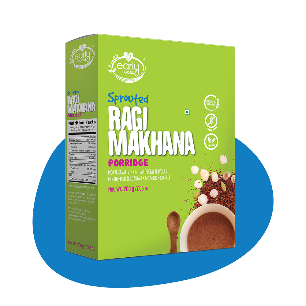 Sprouted Ragi & Makhana Porridge Mix, 200g