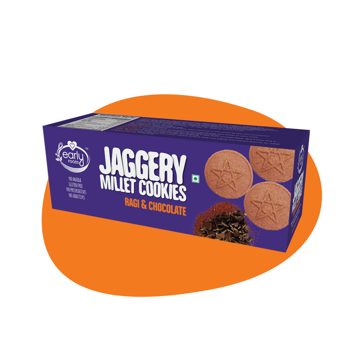 Ragi and Choco Jaggery Cookies 150g