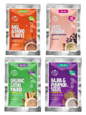 Stage 2 Trial Pack Combo - Organic Fresh Porridge Mixes - 50g each X 4