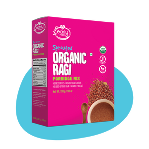 Organic Sprouted Ragi Porridge Mix 200g (Plain)