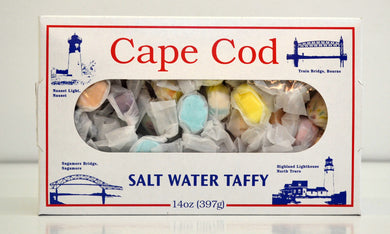 4 Boxes of Cape Cod Salt Water Taffy - Assorted Flavors