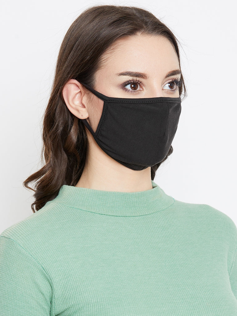 Black cotton Knit reusable mask
