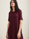 Wine Soft Jersey T Shirt Dress
