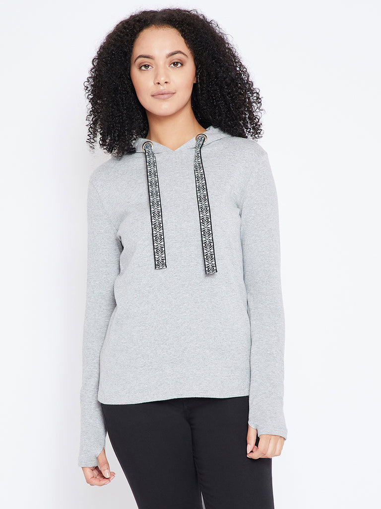 Grey Thumb detail Sweater