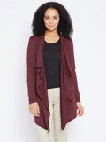 Wine Textured Waterfall shrug