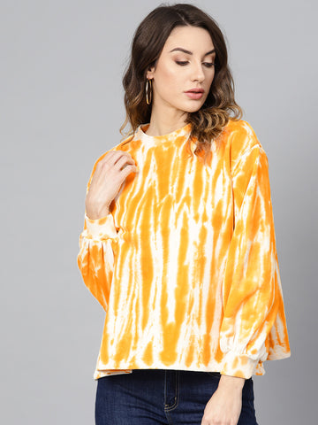 Yellow/White Tie dye sweatshirt