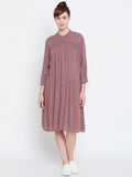 Dusky Pink Oversized Shirt Dress