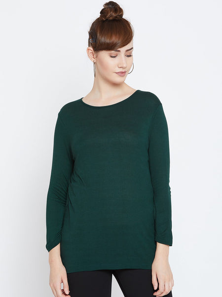 Green Back Cowl Neck  Top