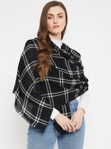 Black & White Check Scarf