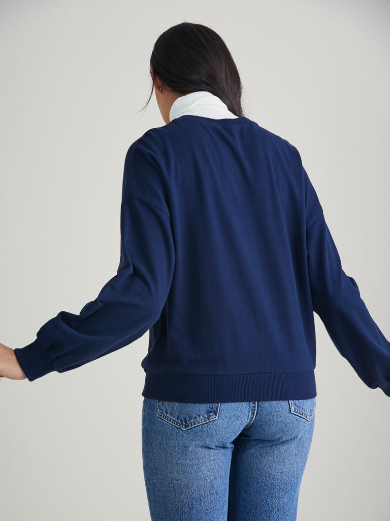 Navy  Relaxed Fit Sweatshirt