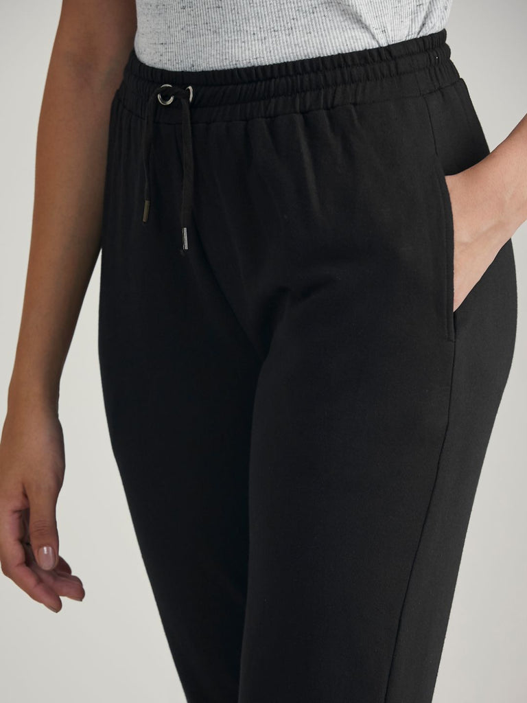 Black Terry Track Pants