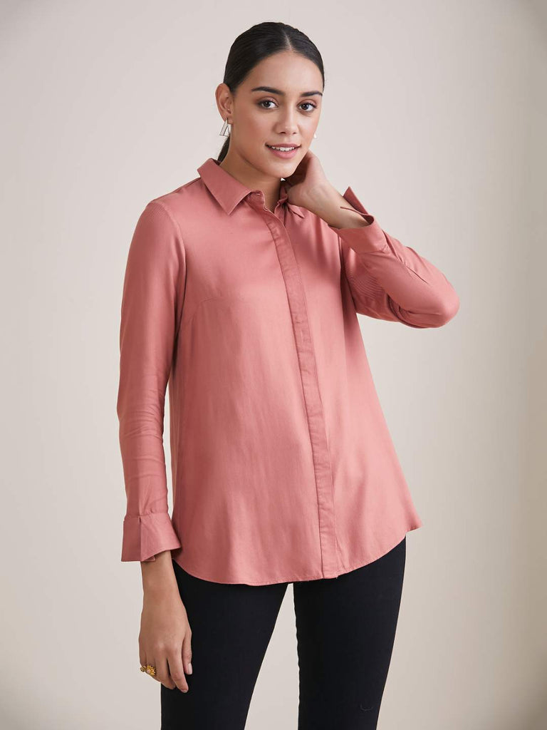 Blush Pink Button Down Shirt