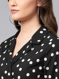 Black white polka Dot Blazer Dress