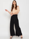 Black Pleated Pallazo Pant
