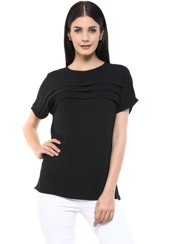 Black Pleated Top