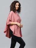 Blush pink oversized shirt
