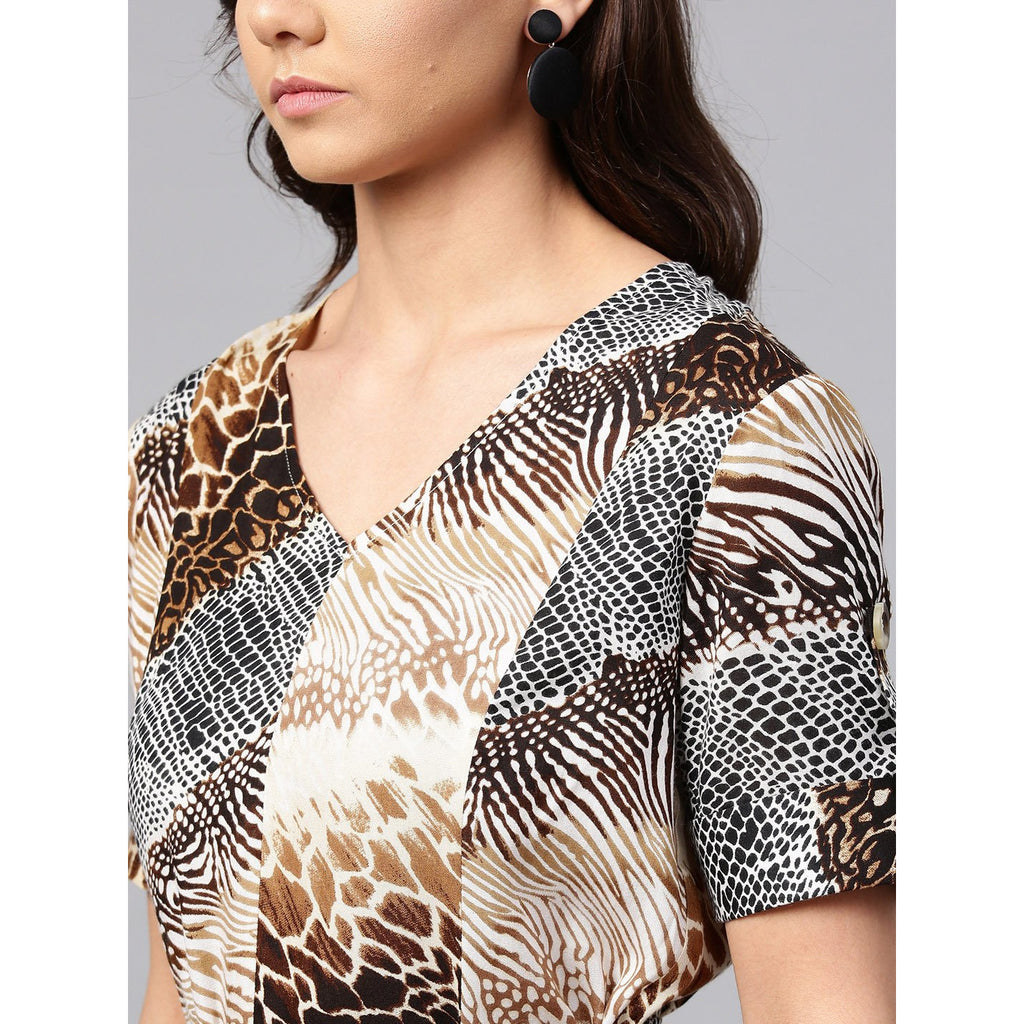 Animal Print Shift Dress