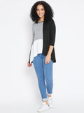 Black color block top