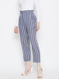 Blue White Stripped High Waist Pants