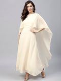 Ecru Back Cape Detail Maxi