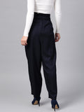 Navy paperbag pants